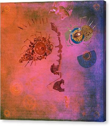 Blushing Bot Canvas Print by Fran Riley