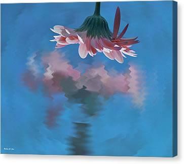 Blushing Pink Bloom Canvas Print by Barbara St Jean