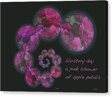 Blustery Day Haiga Canvas Print by Judi and Don Hall