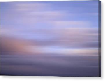 Canvas Print featuring the photograph Bluured Sky 5 by John  Bartosik