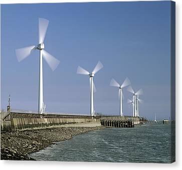 Blyth Harbour Wind Farm Canvas Print