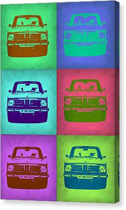 Bmw Vintage Cars Canvas Print - Bmw 2002 Pop Art 2 by Naxart Studio