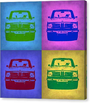 Bmw Vintage Cars Canvas Print - Bmw 2002 Pop Art 3 by Naxart Studio
