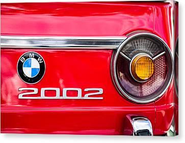 Bmw 2002 Taillight Emblem Canvas Print by Jill Reger