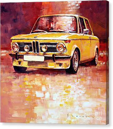 Bmw Canvas Print - Bmw 2002 Turbo by Yuriy Shevchuk