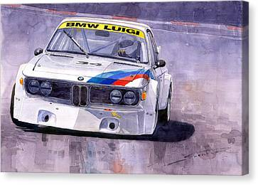 Bmw 3 0 Csl 1972 1975 Canvas Print by Yuriy  Shevchuk