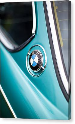 Classic Auto Canvas Print - Bmw 3.0 Cs Closeup Curves by Mike Reid