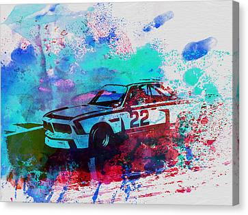 Bmw Vintage Cars Canvas Print - Bmw 3.0 Csl  by Naxart Studio