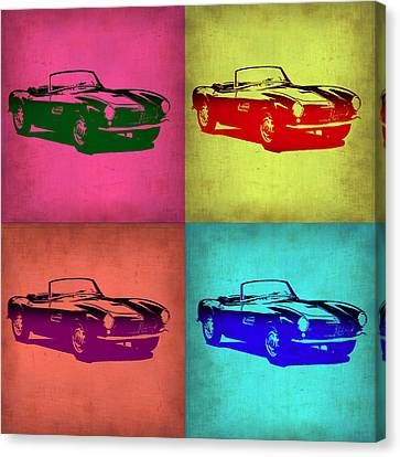 Bmw Vintage Cars Canvas Print - Bmw 507 Pop Art 1 by Naxart Studio