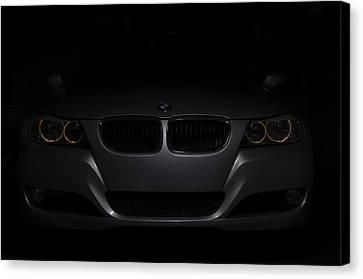 Bmw Car In Black Background Canvas Print