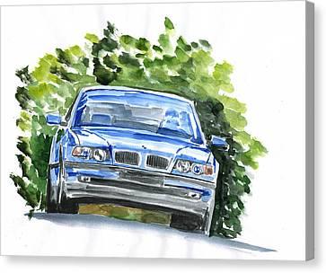 Bmw E38 Canvas Print by Ildus Galimzyanov