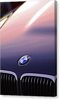 Bmw Hood Emblem Canvas Print by Jill Reger