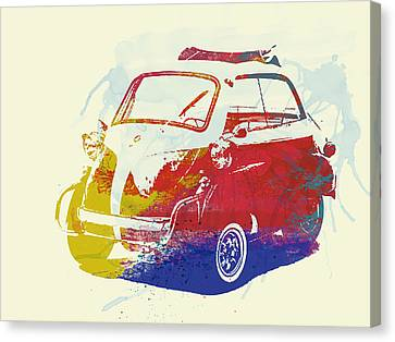Bmw Racing Classic Bmw Canvas Print - Bmw Isetta by Naxart Studio