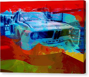 Bmw Vintage Cars Canvas Print - Bmw Laguna Seca by Naxart Studio