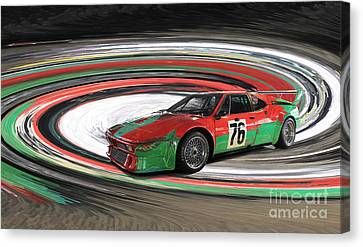 Bmw M1 By Warhol Canvas Print by Roger Lighterness