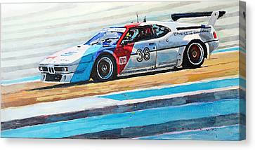 Bmw Racing Classic Bmw Canvas Print - Bmw M1 Procar 1979 by Yuriy Shevchuk