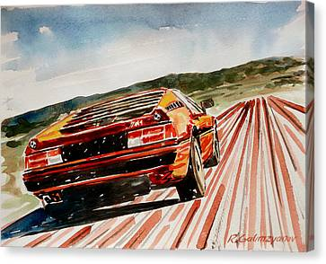 Bmw M1 Canvas Print by Rimzil Galimzyanov