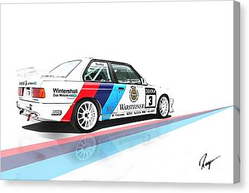 Bmw M3 Canvas Print by Roger Lighterness