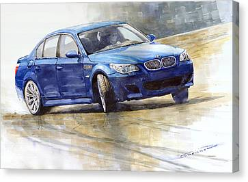 Bmw Canvas Print - Bmw M5 2006 01 by Yuriy Shevchuk