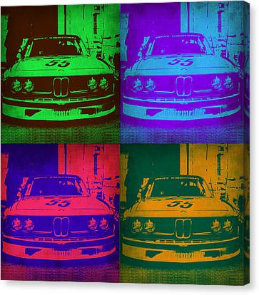 Bmw Canvas Print - Bmw Racing Pop Art 1 by Naxart Studio