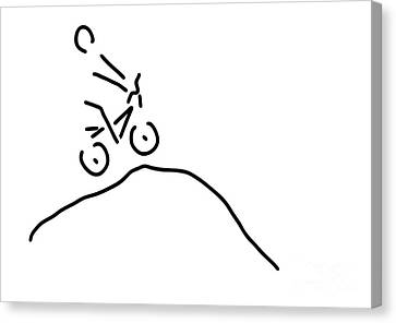 Racing Canvas Print - Bmx Cycling Fun Offroad by Lineamentum