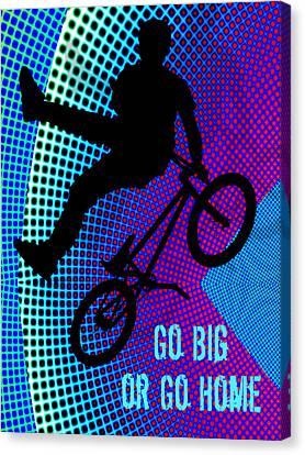 Bmx Fractal Movie Marquee Go Big Or Go Home Canvas Print