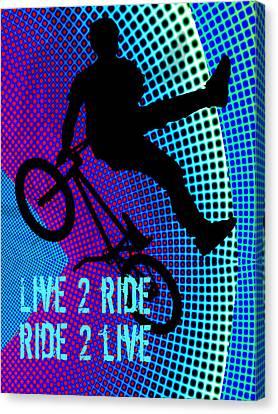 Bmx Fractal Movie Marquee Live 2 Ride Ride 2 Live Canvas Print