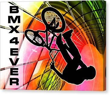 Bmx In Lines And Circles Bmx 4 Ever Canvas Print