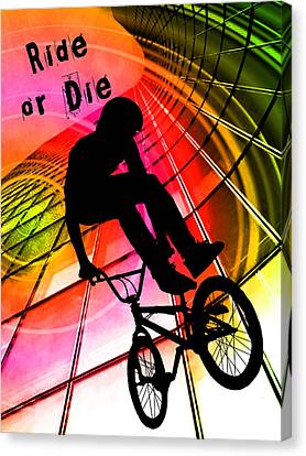 Bmx In Lines And Circles Ride Or Die Canvas Print