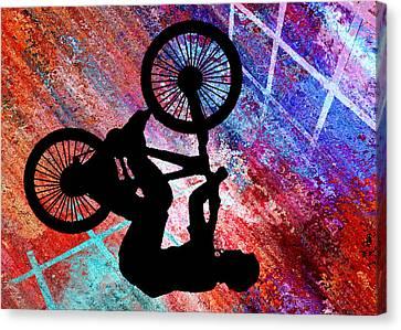Bmx On Rusty Grunge Canvas Print