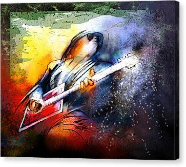 Bo Diddley Madness Canvas Print by Miki De Goodaboom