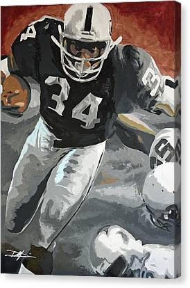Bo Jackson Canvas Print by Don Medina