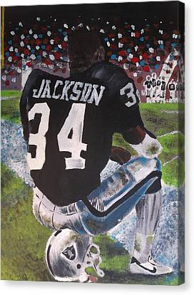 Bo Jackson II Canvas Print by Jeremy Moore