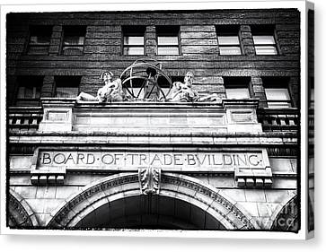 Board Of Trade Building Canvas Print by John Rizzuto