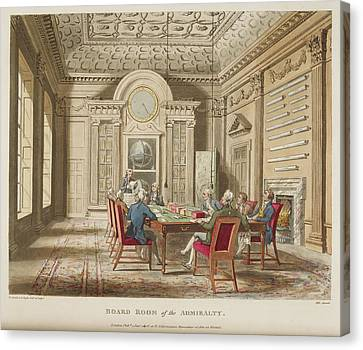 Board Room Of The Admiralty Canvas Print by British Library