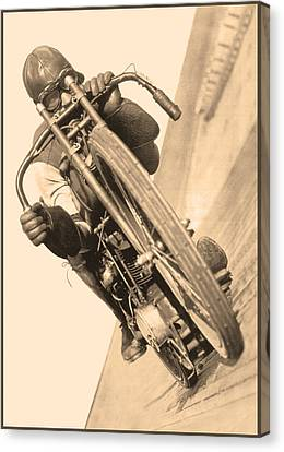 Board Track Racer Canvas Print
