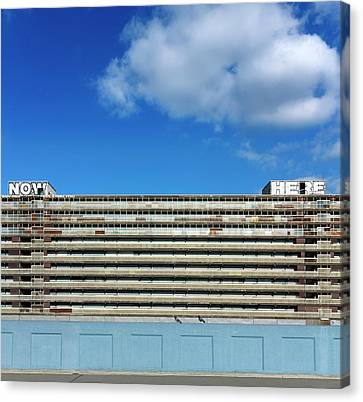 Boarded Up High-rise Housing Canvas Print