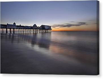 Boardwalk At Dawn Canvas Print by Eric Gendron
