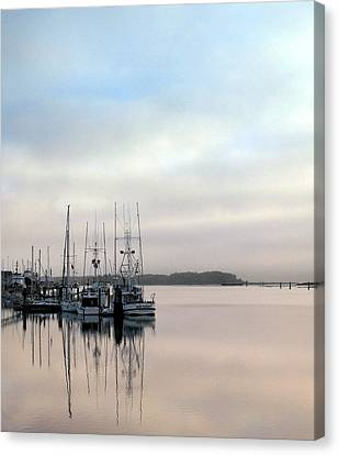 Canvas Print featuring the photograph Boardwalk Boats by Suzy Piatt