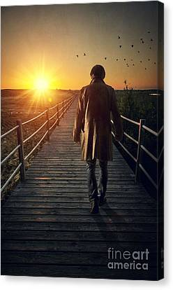Boardwalk Canvas Print by Carlos Caetano