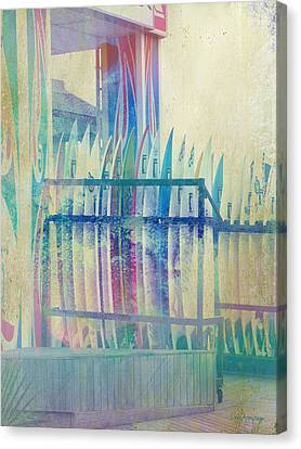 Canvas Print featuring the photograph Boardwalk by Chris Armytage