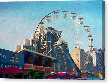 Boardwalk Ferris  Canvas Print by Alice Gipson