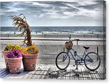 Boardwalk    Hdr Canvas Print by Thomas  MacPherson Jr