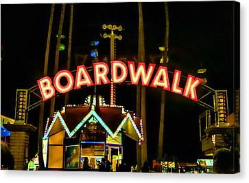 Boardwalk Canvas Print by Digital Kulprits