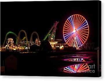 Boardwalk Night Canvas Print