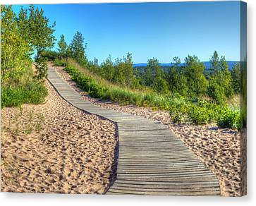 Boardwalk Through The Dunes Canvas Print by Twenty Two North Photography
