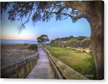 Boardwalk To History Canvas Print by Phil Mancuso