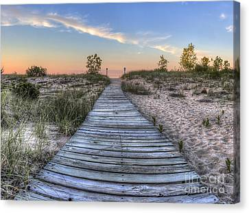 Boardwalk To The Beach Canvas Print by Twenty Two North Photography
