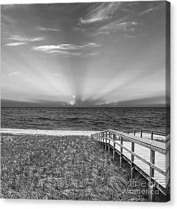 Boardwalk To The Sea Canvas Print by Michelle Wiarda