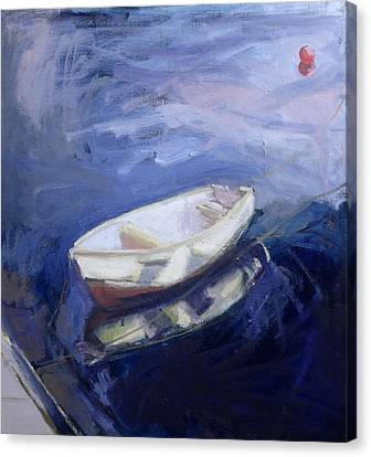 Boat And Buoy Canvas Print by Sue Jamieson